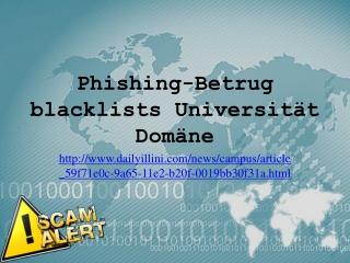 Phishing-Betrug blacklists Universität Domäne