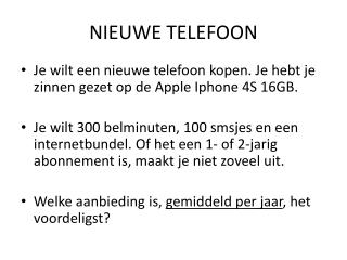 nieuwe telefoon