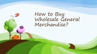 4 Points to Consider before Buying Wholesale General Merchan