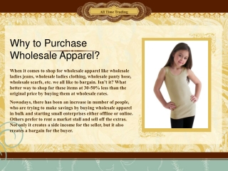 Why to Purchase Wholesale Apparel?