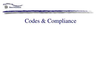Codes & Compliance