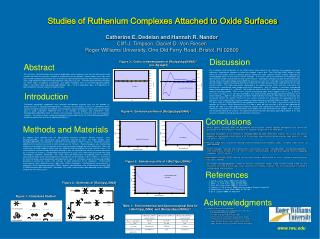 Studies of Ruthenium Complexes Attached to Oxide Surfaces