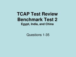 TCAP Test Review