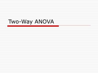 Two-Way ANOVA