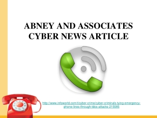 abney and associates cyber news article, Cyberbrottslingar b