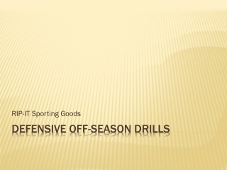 Defensive Drills For Baseballs