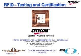 RFID - Testing and Certification