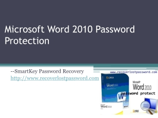 Microsoft Word 2010 Password Protection