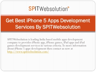Get Best iPhone 5 Apps Development Services