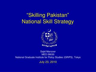 """Skilling Pakistan"" National Skill Strategy"