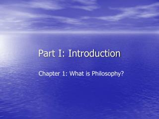 Part I: Introduction