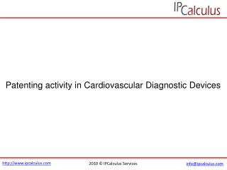 IPCalculus - Cardiovascular Diagnostic Devices Patenting Act