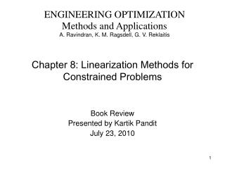 Chapter 8: Linearization Methods for Constrained Problems