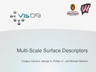 Multi-Scale  Surface  Descriptors