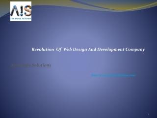 Revolution Of Web Design And Development Company