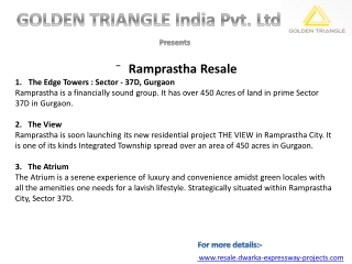 Ramprastha Primera, Gurgaon sect 37, contact:+91 9990982004