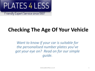 Checking The Age Of Your Vehicle