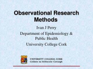 Observational Research Methods