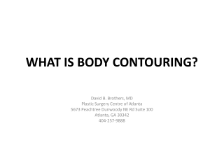 What is Body Contouring?