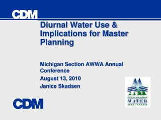 Diurnal Water Use & Implications for Master Planning