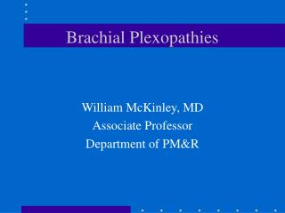 Brachial Plexopathies