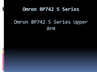 Omron BP742 5 Series