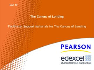 The Canons of Lending