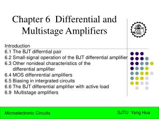Chapter 6  Differential and Multistage Amplifiers