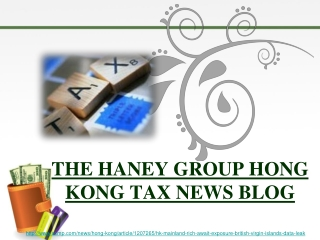 the haney group hong kong tax news blog, Exposition riche vi