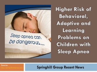 Springhill Group Recent News: Sleep Apnea
