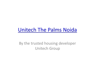 Unitech The Palms Noida