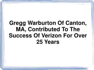 Gregg Warburton Canton MA