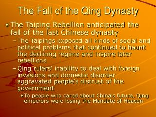 The Fall of the Qing Dynasty