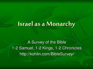 Israel as a Monarchy