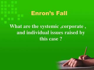 Enron's Fall