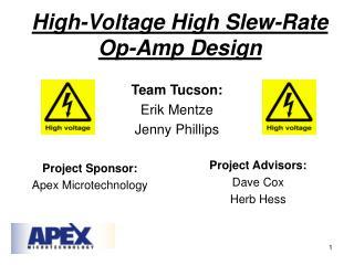 High-Voltage High Slew-Rate Op-Amp Design