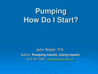 Pumping  How Do I Start?