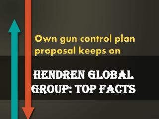 Own gun control plan proposal keeps on