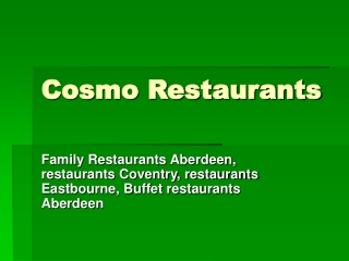 Dine with the leading Family Restaurants Aberdeen to experie