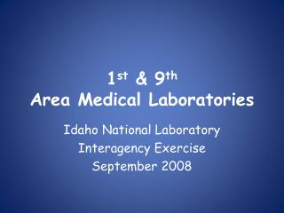 1 st  9 th Area Medical Laboratories