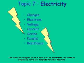 Topic 7 - Electricity