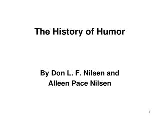The History of Humor