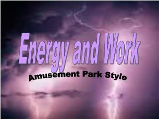 Energy and Work