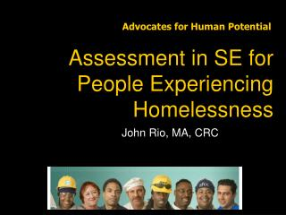 Assessment in SE for People Experiencing Homelessness