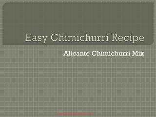 Easy Chimichurri