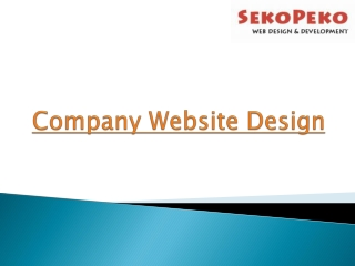 Company Website Design