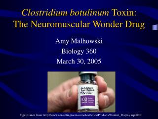 Clostridium botulinum  Toxin: The Neuromuscular Wonder Drug