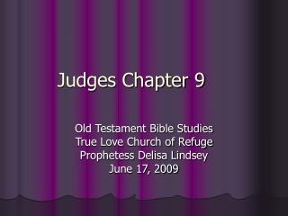 Judges Chapter 9