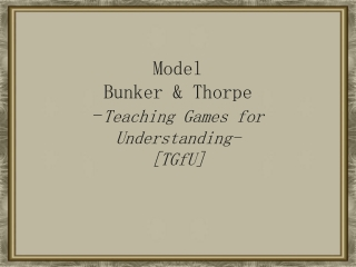 Model bunker and thrope