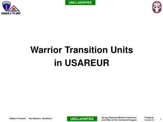 Warrior Transition Units  in USAREUR
